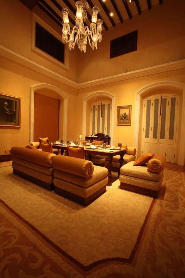 Falaknuma Palace dining room, Hyderabad royalty free stock photography