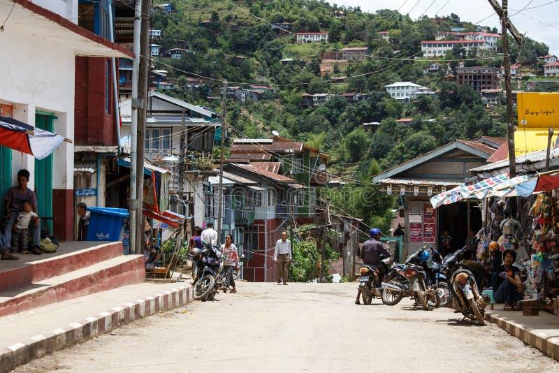 Falam,缅甸(缅甸) 免版税图库摄影