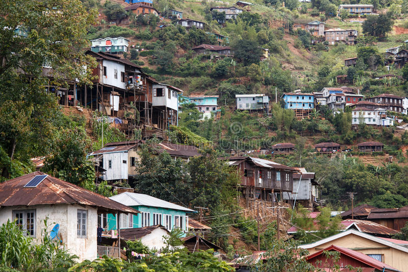 Falam, Myanmar (Burma). Falam Town , Chin State Mountain Region, Western Myanmar (Burma royalty free stock photo