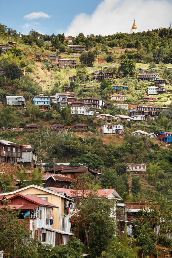 Falam, Myanmar (Burma). Falam Town , Chin State Mountain Region, Western Myanmar (Burma stock image