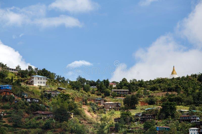 Falam, Myanmar (Burma). Falam Town , Chin State Mountain Region, Western Myanmar (Burma stock photos