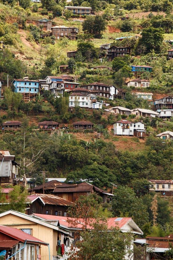 Falam, Myanmar (Burma). Falam Town , Chin State Mountain Region, Western Myanmar (Burma royalty free stock image