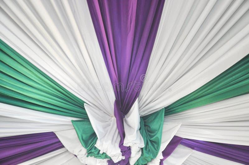 Falbany tkaniny tekstura zdjęcie stock