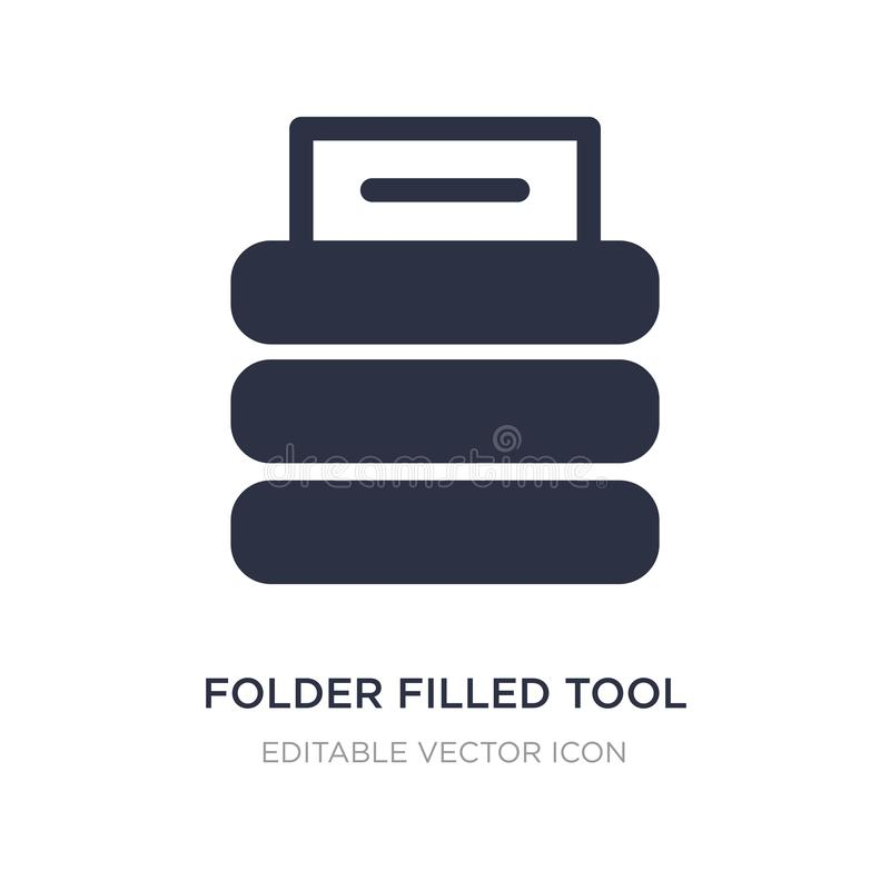 falcówka wypełniająca narzędziowa ikona na białym tle Prosta element ilustracja od kartotek i falcówki pojęcia ilustracji