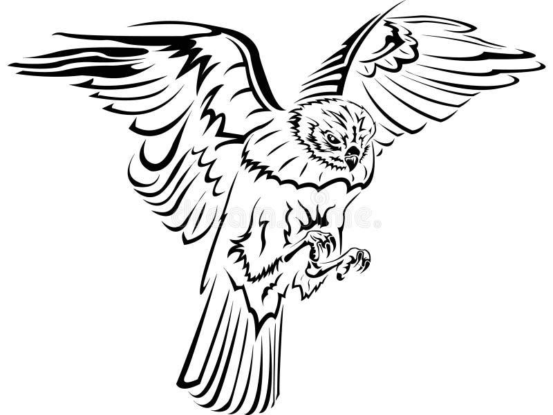 Falcão ilustração stock