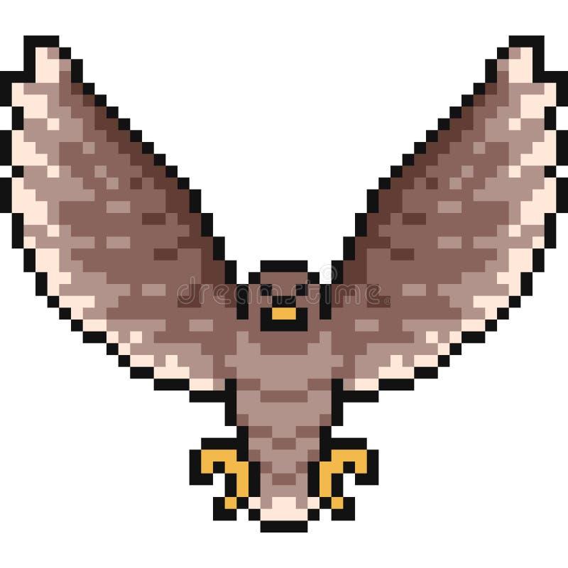 Falcão da arte do pixel do vetor ilustração stock