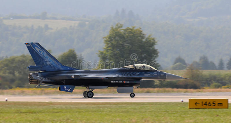 Falcão da luta do F-16 de General Dynamics fotos de stock