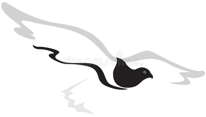 Falcão do vôo ilustração stock