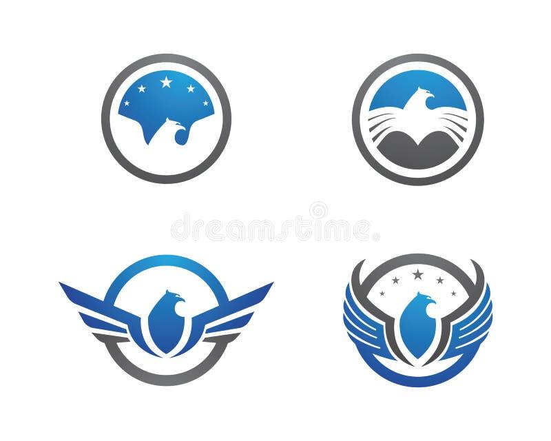 Falcão Eagle Bird Logo Template ilustração royalty free