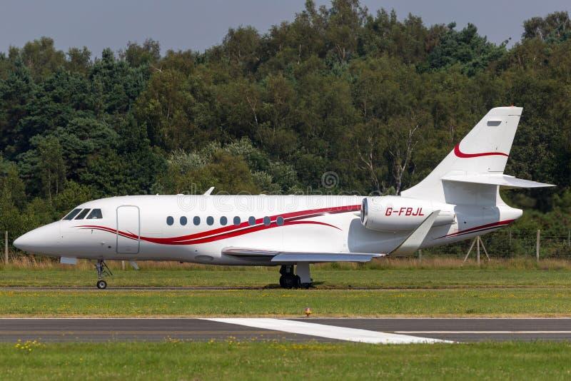Falcão 2000 G-FBJL de Dassault da aviação da ETIQUETA imagem de stock royalty free