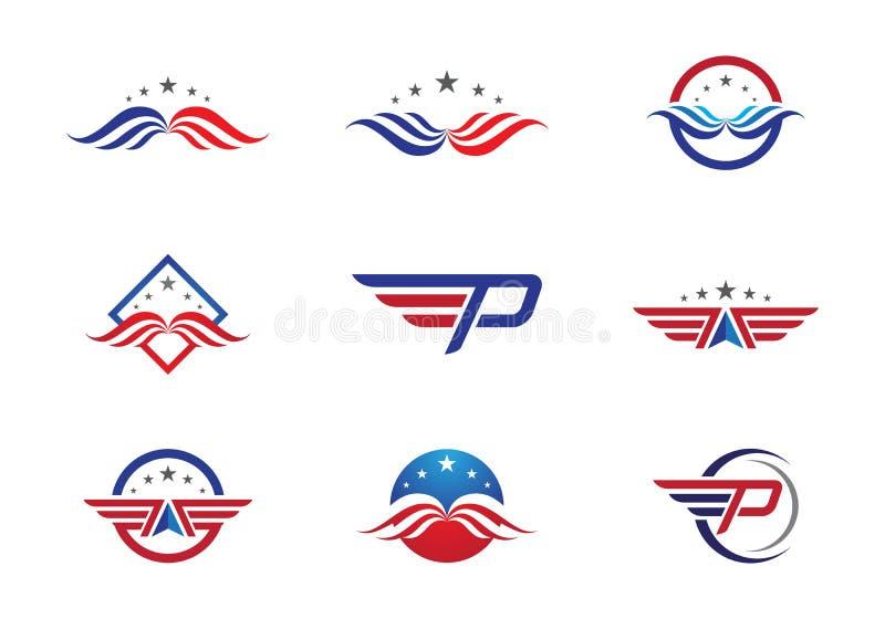 Falcão Logo Template ilustração do vetor