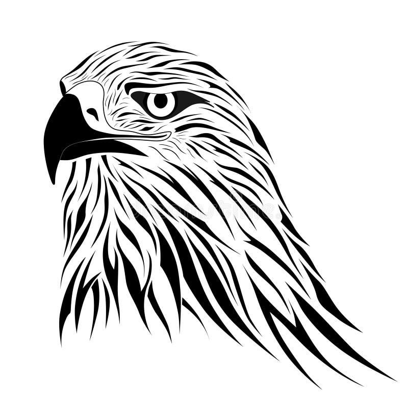 Falcão, tatuagem ilustração stock