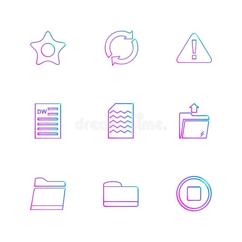 falcówka, kartoteki, książka telefoniczna, rewizja, kod, eps ikony ustawia vecto ilustracji