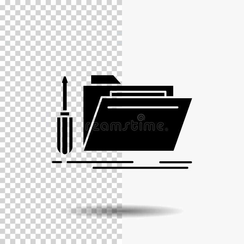 falcówka, narzędzie, naprawa, zasoby, usługowa glif ikona na Przejrzystym tle Czarna ikona ilustracji