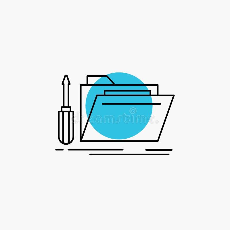 falcówka, narzędzie, naprawa, zasoby, usługowej linii ikona ilustracja wektor