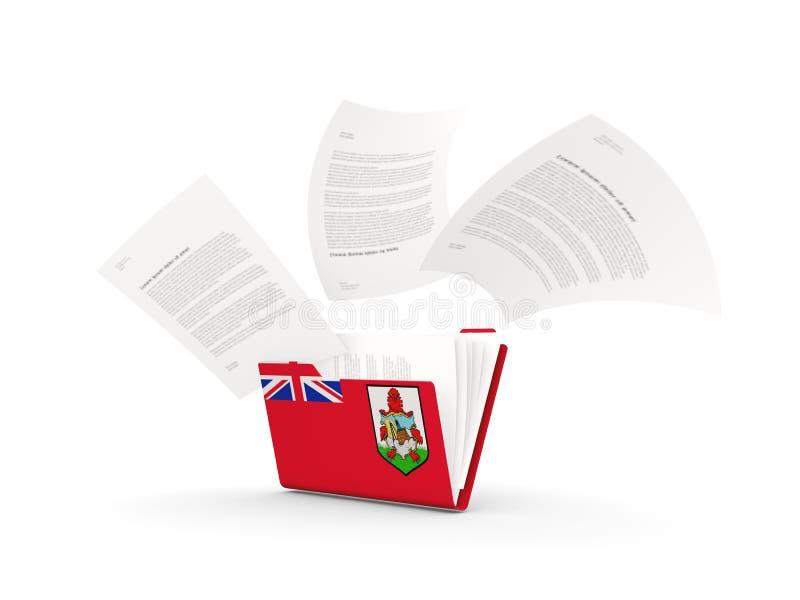 Falcówka z flagą Bermuda ilustracja wektor