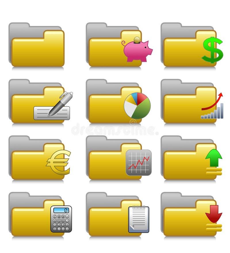 Falcówki Ustawiać - Finansowe zastosowanie falcówki 08 royalty ilustracja