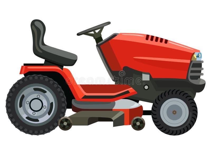 Falciatrice rossa illustrazione vettoriale