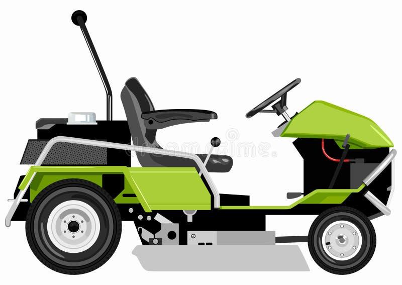 Falciatrice verde illustrazione vettoriale