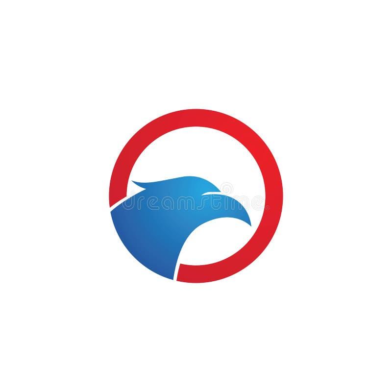Falco capo Logo Template illustrazione vettoriale