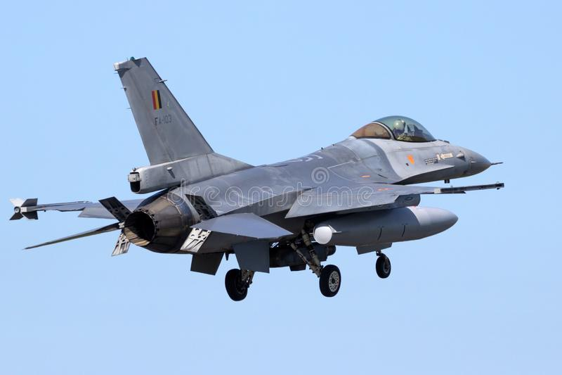 Falco di combattimento del F16 di General Dynamics immagini stock libere da diritti