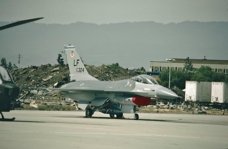 Falco di combattimento del U.S.A.F. General Dynamics F-16A 79-0324 fotografie stock
