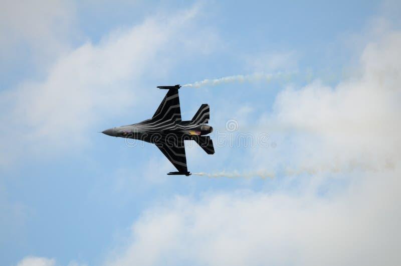 Falco di combattimento F16 dell'aeronautica belga fotografia stock