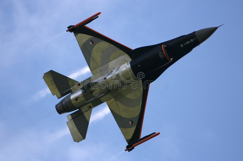 Falco di combattimento F16 fotografie stock libere da diritti