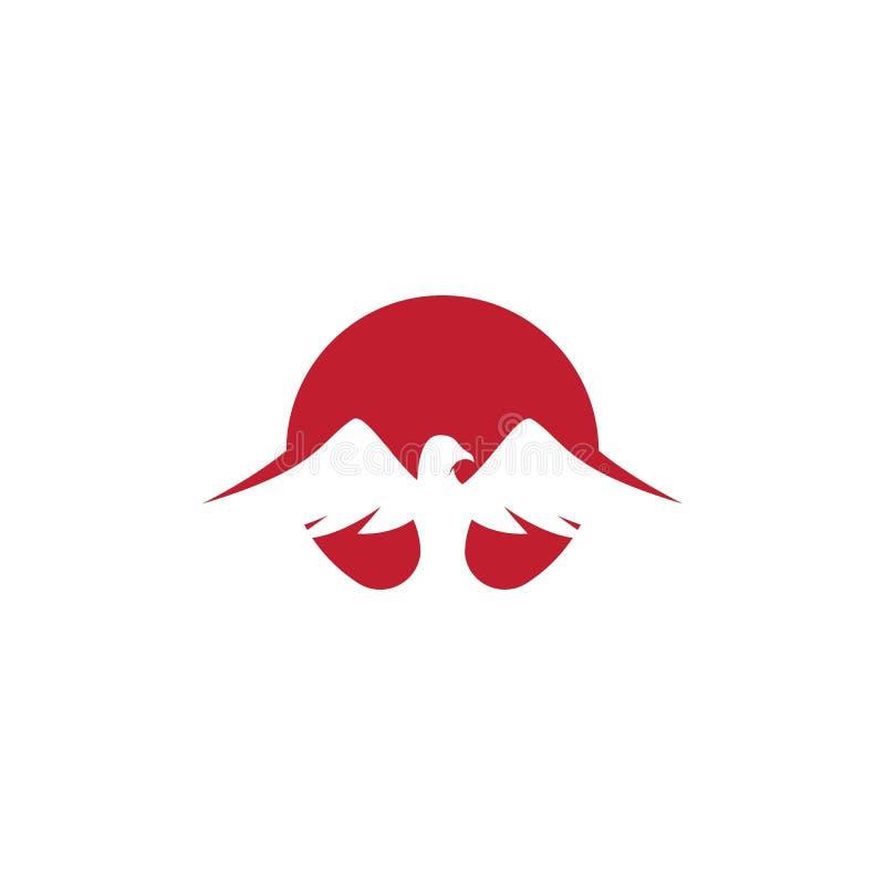 Falco Eagle Bird Logo Template illustrazione vettoriale