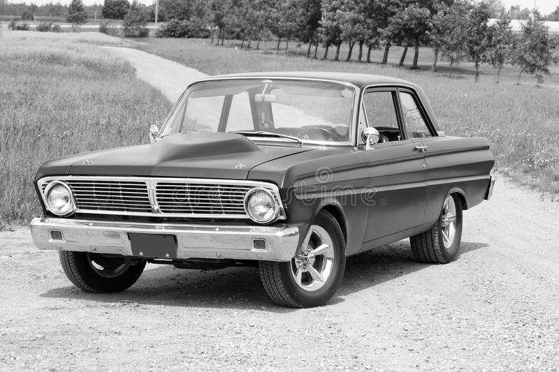 Falcon. Picture of the black ford falcon royalty free stock images