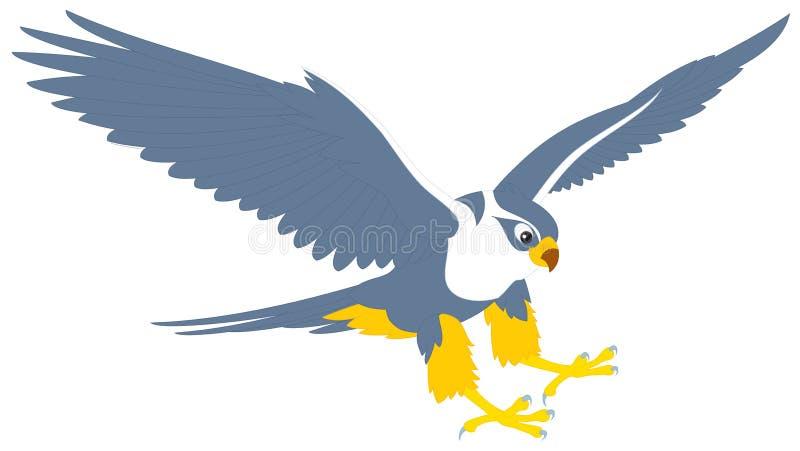 Download Falcon stock vector. Image of cartoony, clip, eagle, color - 19832629