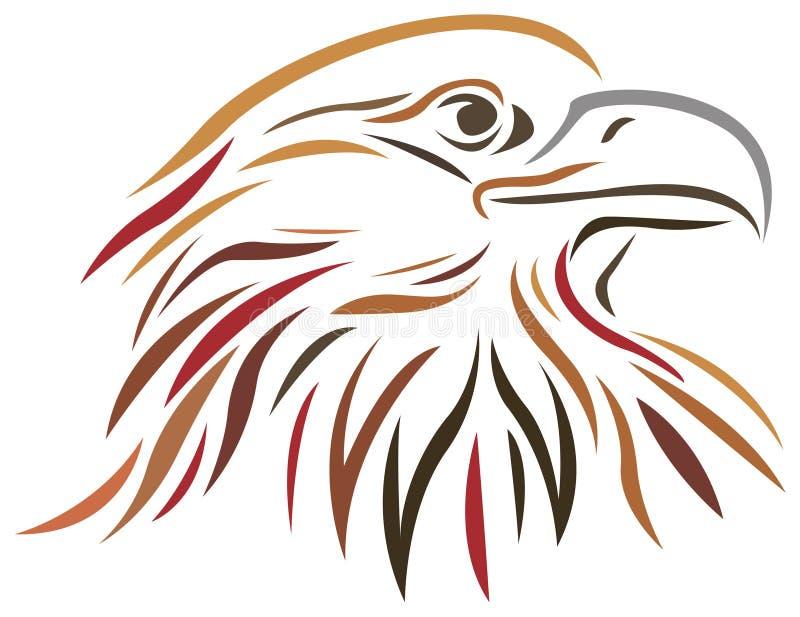 Falcon. Brush stroke line art falcon image