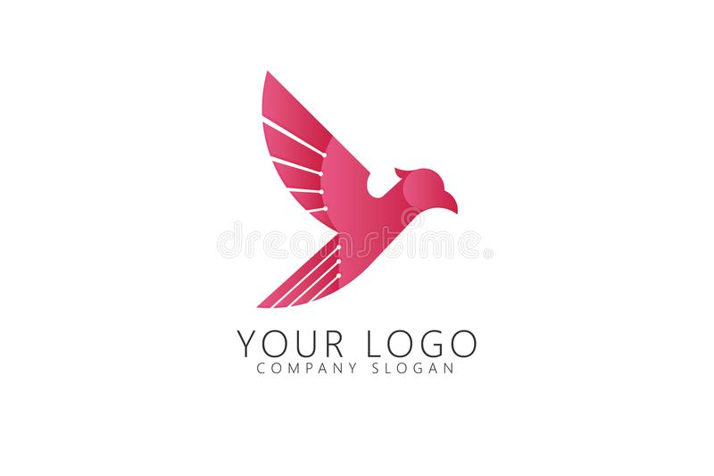 Falcon Golden Ratio Logo Icon. Concept with minimalis and simple icon easy recolor for eps format and resizeable royalty free illustration