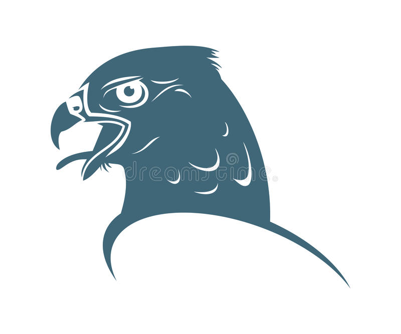Download Falcon head stock vector. Image of sign, eagle, majestic - 26872108