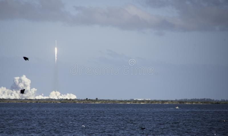 Falcon Heavy Launch in Cape Canaveral stock photography