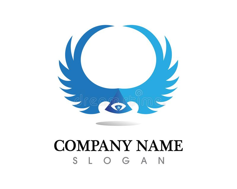 Falcon Wing Logo Template vector icon design royalty free illustration