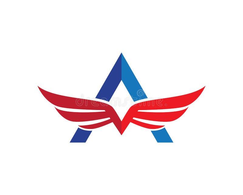 Falcon Wing Logo Template vector illustration