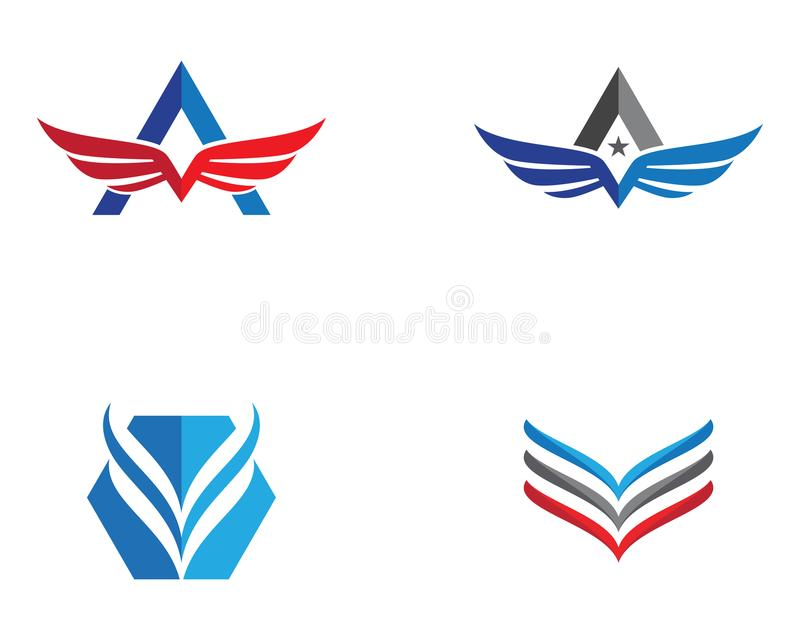 Falcon Wing Logo Template royalty free illustration