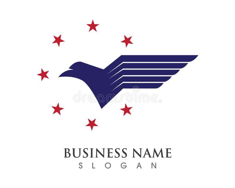 Falcon Wing Logo Template stock illustration