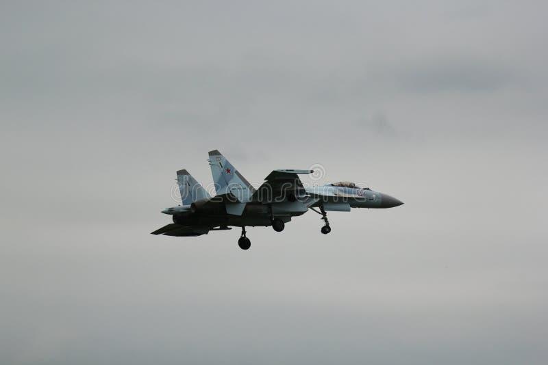 Falcons av Ryssland det Aerobatic laget arkivbild