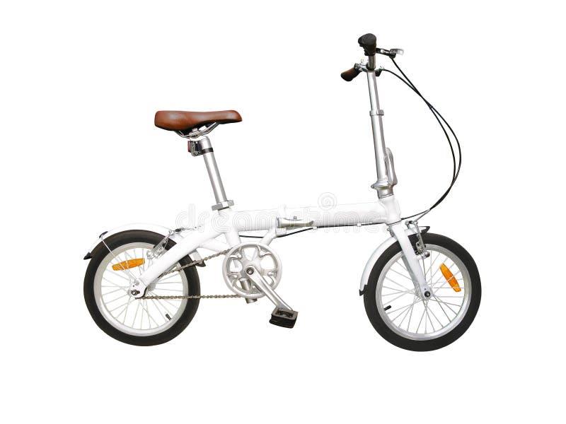 Falcowanie bicykl odizolowywający na bielu zdjęcia stock