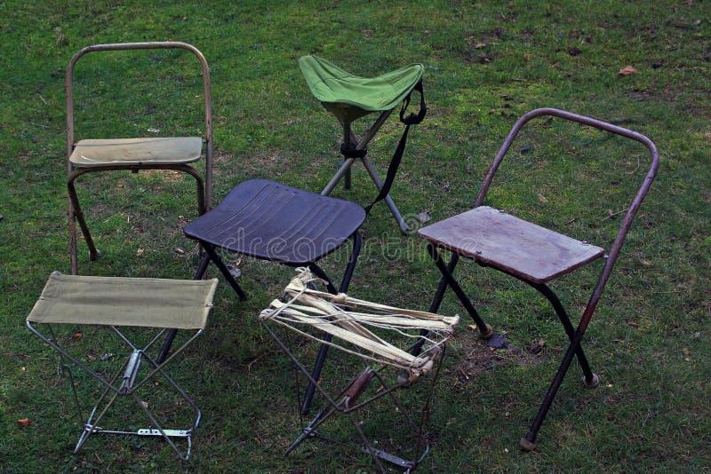 Falcowanie turysty krzesła zdjęcie stock