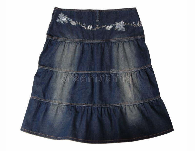 Falda de los tejanos. fotografía de archivo