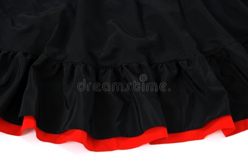 Falda española del flamenco fotos de archivo