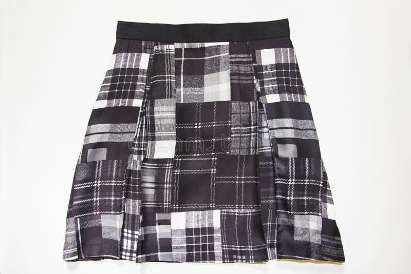 Falda negra del tartán foto de archivo libre de regalías