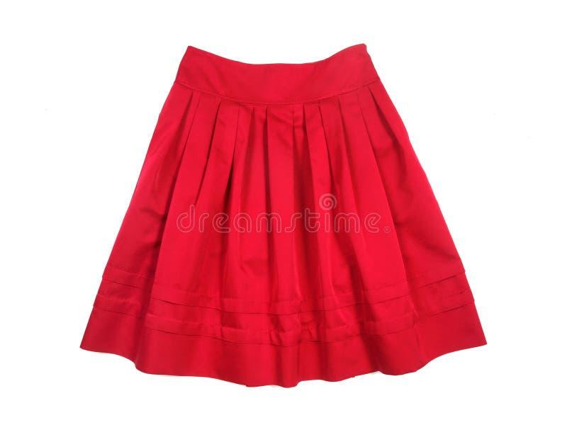 Falda roja de las mujeres imagen de archivo libre de regalías