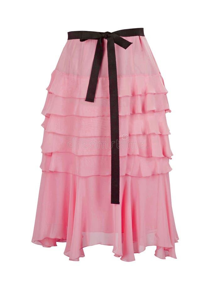 Falda rosada imagen de archivo