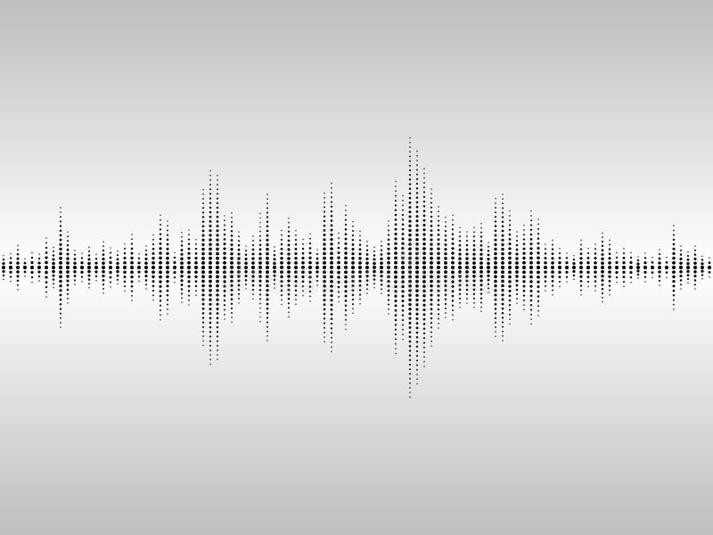 fale dźwiękowe abstrakcyjnych zdjęcia stock