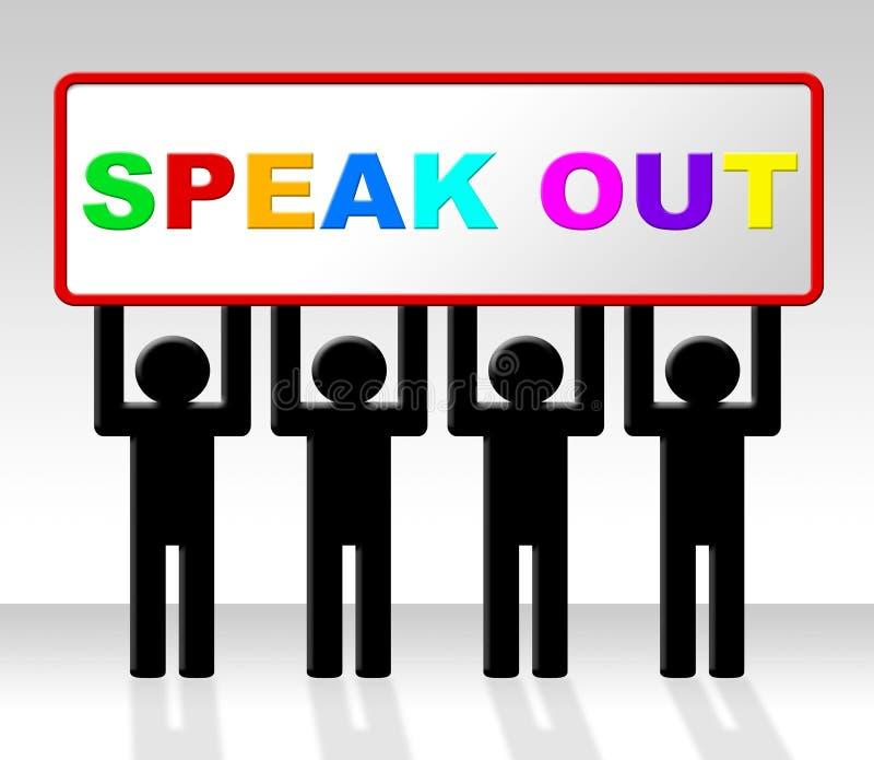 Fale indica para fora dizem suas mente e atenção ilustração do vetor