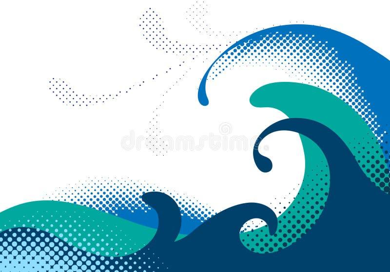 fale morskie royalty ilustracja